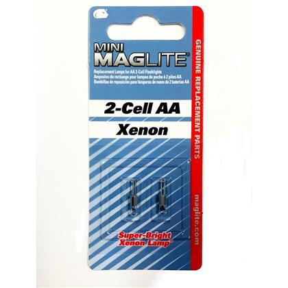 Mini Maglite AA Flashlight Xenon Replacement Bulb - 2 Pack