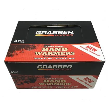 Grabber 10+ Hour Resealable Large Hand Warmers - Case - 48 (3) Packs