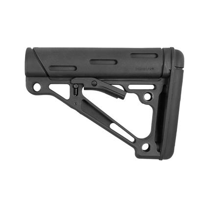 Hogue AR-15/M15 OverMolded Collapsible Buttstock - Black - Mil-Spec - 15040